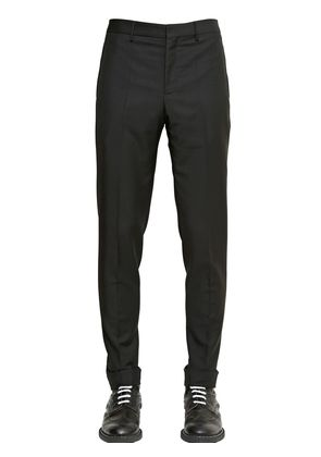 SLIM FIT WOOL GABARDINE PANTS