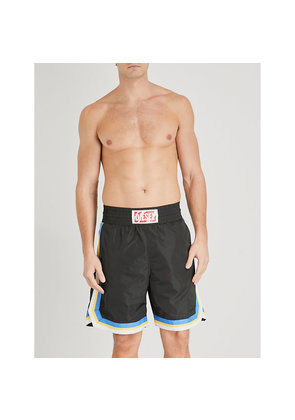 P-Boxer striped swim shorts
