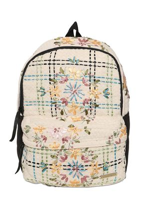 EMBROIDERED NEOPRENE & COTTON BACKPACK