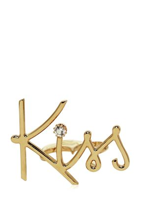 KISS GOLD PLATED BRASS DOUBLE RING