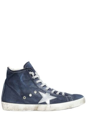 FRANCY WASHED DENIM HIGH TOP SNEAKERS