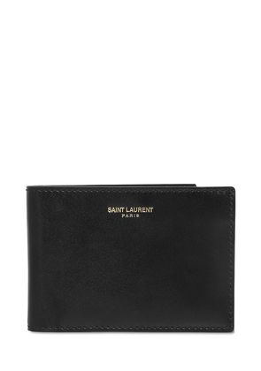BRUSHED CALF LEATHER CLASSIC WALLET