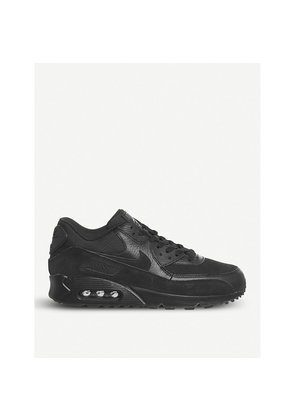 Air Max 90 leather and mesh trainers