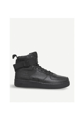 SF AF1 17 mid-top leather trainers