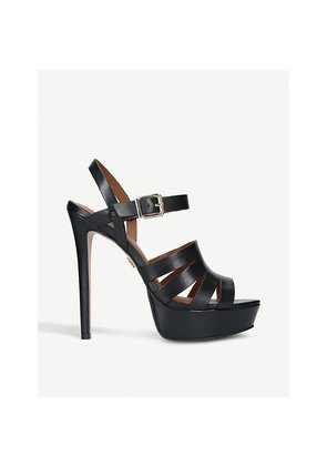 Warwick cut-out leather platforms