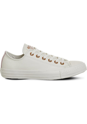 Converse Chuck taylor All Star low-top leather trainers, Women's, Size: 5, Egret vapour pink