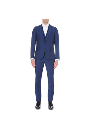 Paul Smith Mens Light Blue Graphic Suit, Size: 46R