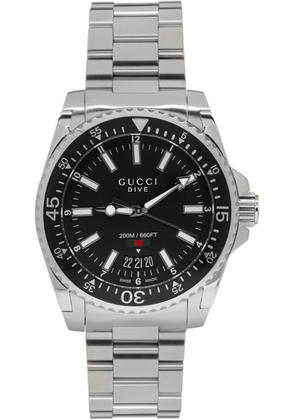 Gucci Silver Xl Dive Watch
