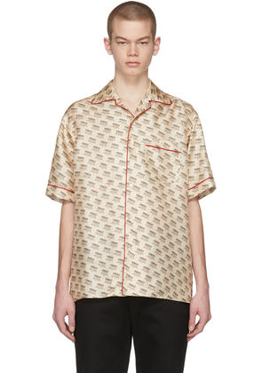 Gucci Off-white All-over Logo Stamp Shirt