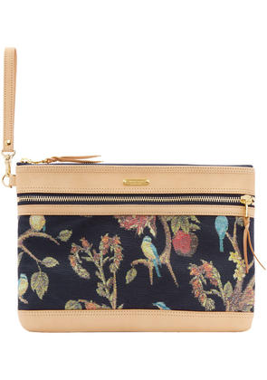 Master-piece Co Pink and Navy Floral Pouch