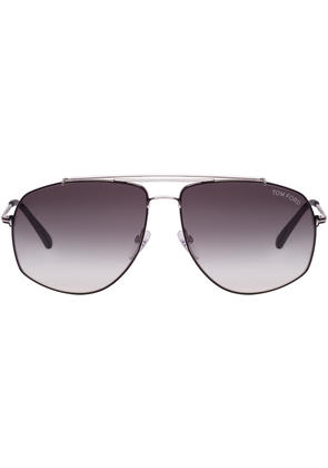Tom Ford Black and Silver Georges Sunglasses