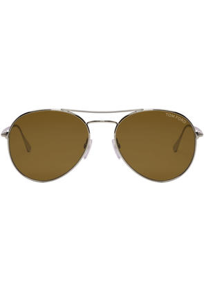 Tom Ford Rose Gold and Brown Ace 2 Sunglasses
