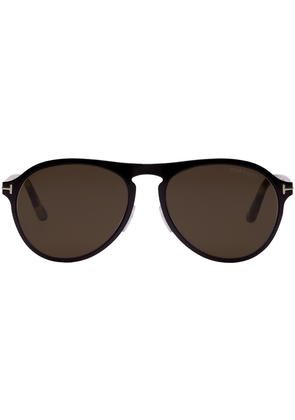 Tom Ford Black and Brown Bradbury Sunglasses