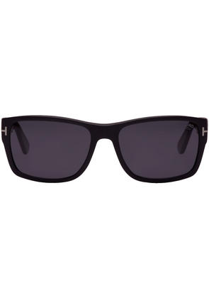 Tom Ford Black and Grey Matte Polarized Sunglasses