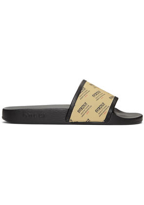 Gucci Off-white All Over Logo Stamp Pursuit Slides