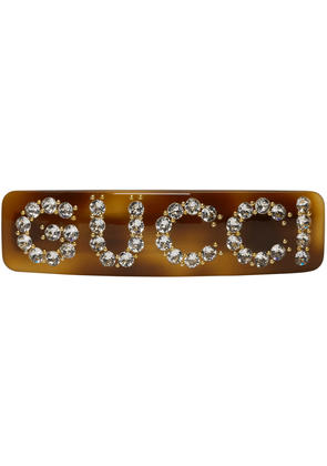 Gucci Brown Crystal Barrette
