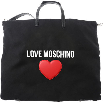Tote Bag On Sale, Love Moschino, Dirty White, Canvas, 2017, one size Moschino