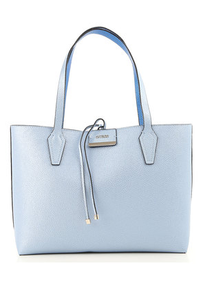 Tote Bag On Sale, Reversible, Sky Blue, polyurethane, 2017, one size Guess