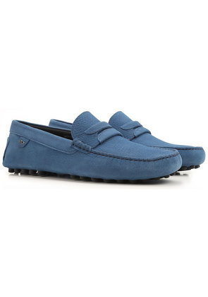 Dolce & Gabbana Loafers for Men On Sale, Avio Blue, Leather, 2017, 6.5 6.75 7 8 8.5 9.25