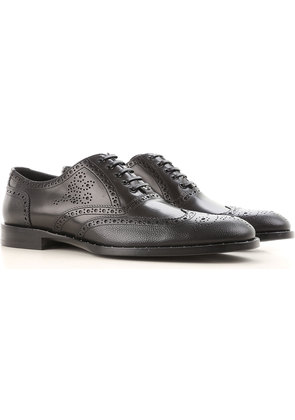 Dolce & Gabbana Lace Up Shoes for Men Oxfords, Derbies and Brogues On Sale, Black, Leather, 2017, 10.5 6.5 7.5 8 8.5 9 9.5