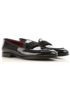 Dolce & Gabbana Loafers for Men On Sale, Black, Patent Leather, 2017, 6.5 7.5 8 8.5 9