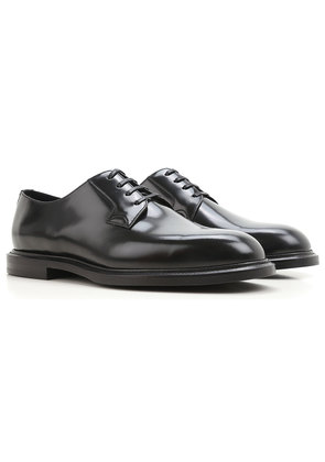 Dolce & Gabbana Lace Up Shoes for Men Oxfords, Derbies and Brogues On Sale, Black, Leather, 2017, 7 7.5 8 9 9.5
