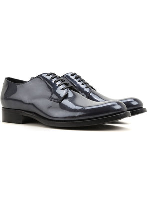 Dolce & Gabbana Lace Up Shoes for Men Oxfords, Derbies and Brogues On Sale in Outlet, Cobalt, Patent Leather, 2017, 6.75 7.5 8 8.5 9 9.25 9.5