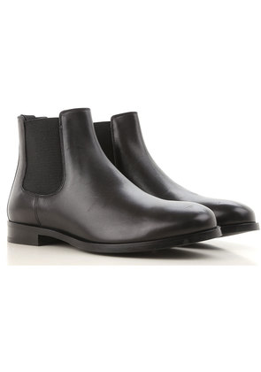 Dolce & Gabbana Boots for Men, Booties On Sale in Outlet, Black, Leather, 2017, 6.5 7 8 9