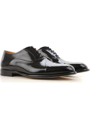 Fabi Lace Up Shoes for Men Oxfords, Derbies and Brogues On Sale, Black, Leather, 2017, 10 6 8 9 9.5
