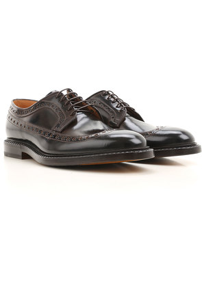 Fabi Lace Up Shoes for Men Oxfords, Derbies and Brogues On Sale, Dark Coffee, Leather, 2017, 10 6 7 9