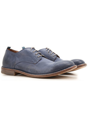 Lace Up Shoes for Men Oxfords, Derbies and Brogues On Sale, Bluette, Leather, 2017, 8 9 Moma