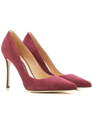 Pumps & High Heels for Women On Sale, Cherry, Suede leather, 2017, 2.5 4 6 Sergio Rossi