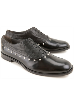 Lace Up Shoes for Men Oxfords, Derbies and Brogues On Sale in Outlet, Black, Leather, 2017, 5.5 6 7 Giacomorelli