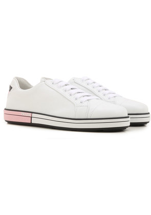 Sneakers for Women On Sale, White, Leather, 2017, 3.5 5 6.5 Prada
