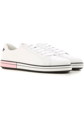 Sneakers for Women On Sale, White, Leather, 2017, 2.5 4 5 Prada
