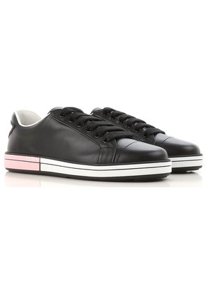 Sneakers for Women On Sale, Black, Leather, 2017, 2.5 3.5 4 4.5 5 5.5 6 6.5 Prada