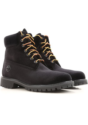 Boots for Men, Booties On Sale, Timberland, Black, Velvet, 2017, 6.5 8 9 9.5 Off-white