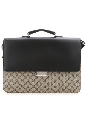 Gucci Briefcase for Men On Sale, Gg Supreme, Black, Leather, 2017