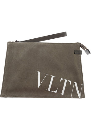 Valentino Toiletry Bag for Men On Sale, Military Green, Canvas, 2017