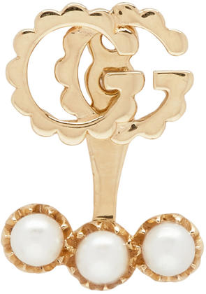 Gucci Gold Single Gg Running Earring