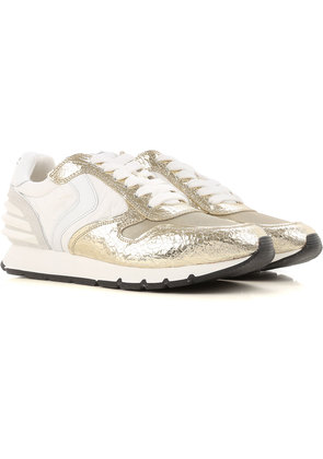 Sneakers for Women On Sale, Gold, Leather, 2017, 3.5 4.5 Voile Blanche