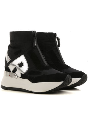 Sneakers for Women On Sale in Outlet, Black, Nylon, 2017, 2.5 Prada