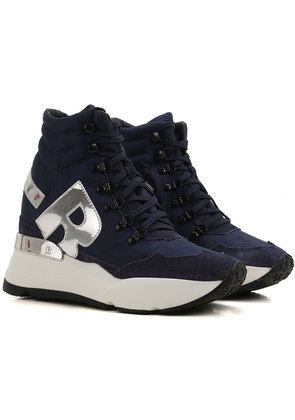 Sneakers for Women On Sale, Night Blue, Suede leather, 2017, 3.5 5.5 Ruco Line