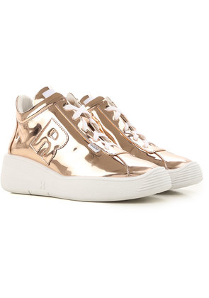 Sneakers for Women, Gold, Suede leather, 2017, 2.5 3.5 4.5 5.5 7.5 Ruco Line