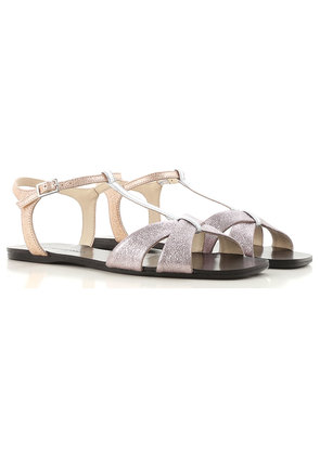 Anna Baiguera Sandals for Women On Sale, Silver, Leather, 2017, 2.5 3.5 4.5 5.5 8.5