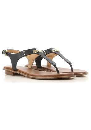 Sandals for Women On Sale, Black, Leather, 2017, 4.5 5.5 7 Michael Kors