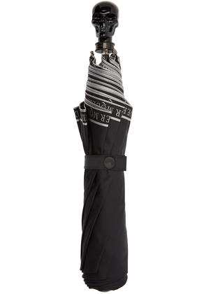 Alexander Mcqueen Black Selvedge Collapsible Umbrella