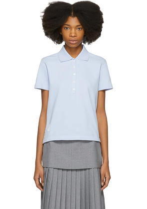 Thom Browne Blue Stripe Relaxed Polo