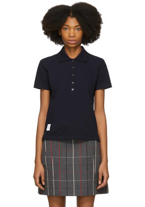 Thom Browne Navy Stripe Relaxed Polo