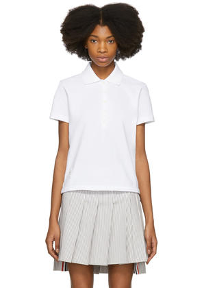 Thom Browne White Stripe Relaxed Polo